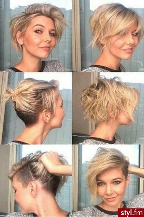 Fryzury 2018 Włosy średnie