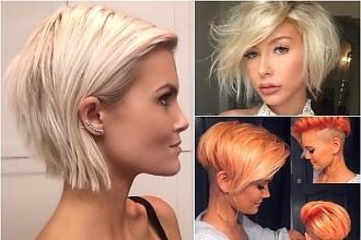 Krótkie Fryzury Damskie 2018 Blond