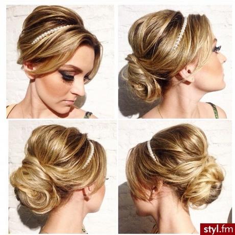 Fryzury Okolicznościowe Włosy średnie