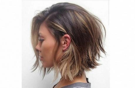 Asymetryczne Fryzury Włosy średnie