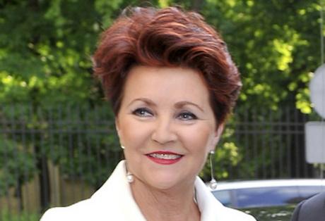 Fryzura Jolanty Kwaśniewskiej