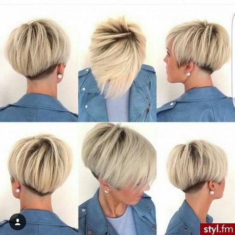 Fryzury Krótkie 2017 Blond