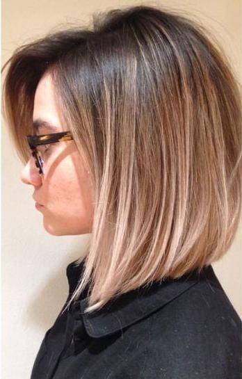Fryzury Ombre Włosy Półdługie