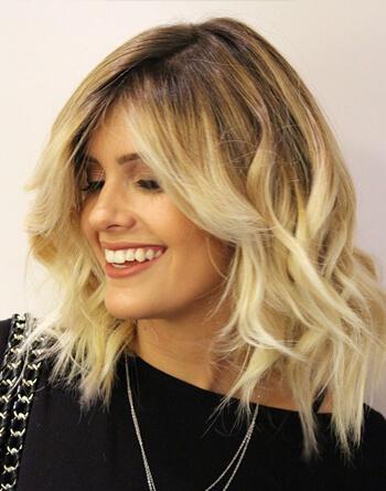 Fryzury Włosy Półdługie Blond
