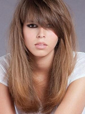 Fryzury Włosy Półdługie Cieniowane Z Grzywką