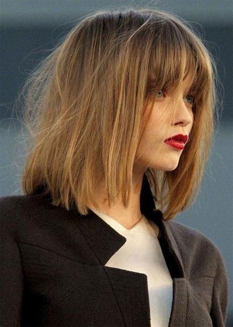Fryzury Z Włosów Do Ramion Z Grzywką