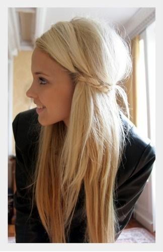 Proste Fryzury Włosy Półdługie
