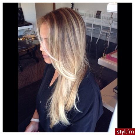 Włosy Blond Długie