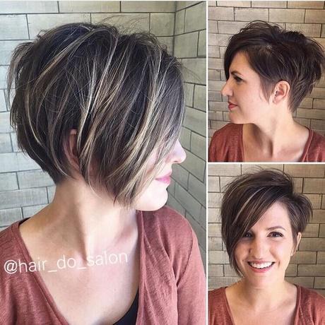 Włosy Krótkie Asymetria