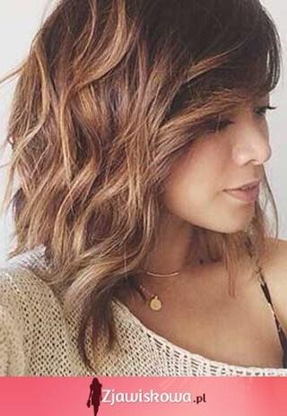 Włosy Cieniowane Do Ramion Zdjęcia