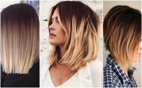 Włosy Do Ramion Cieniowane Z Grzywką Na Bok