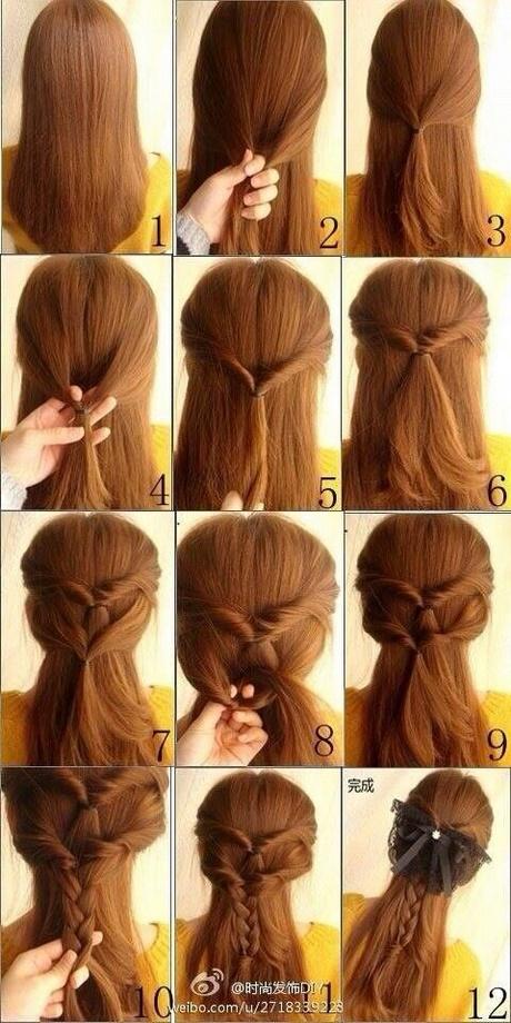 łatwe Fryzury Do Zrobienia Samemu średnie Włosy
