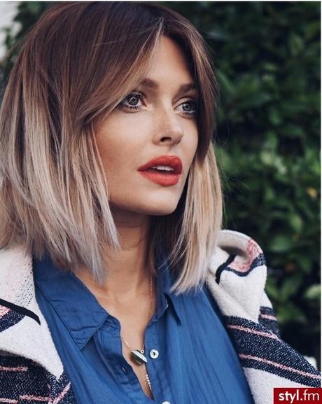 Fryzury Włosy średniej Długości