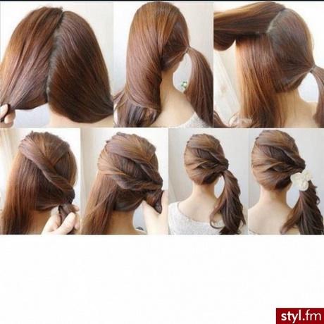 Szybkie Fryzury Z Półdługich Włosów
